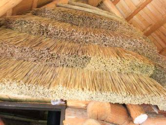 Как мы монтируем крышу из камыша