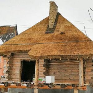 Як покрити очеретяний дах дах